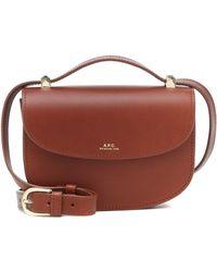 A.P.C. Genève Leather Shoulder Bag - Brown