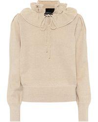 Marc Jacobs Lurex® Ruffled-trimmed Sweater - Metallic