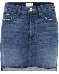 FRAME Le Mini Denim Miniskirt - Blue