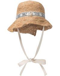 JW Anderson Raffia Bucket Hat - Natural