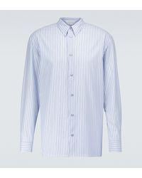 Gabriela Hearst Camicia Quevedo in cotone - Blu