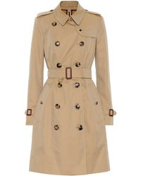 Burberry The Chelsea Cotton Trench Coat - Natural