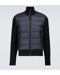 Tom Ford Nylon Front Merino Blouson Jacket - Blue