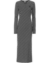 Loewe Striped Stretch-cotton Maxi Dress - Black