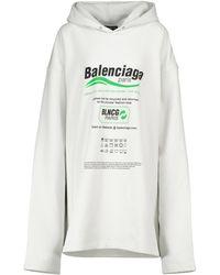 Balenciaga Hoodie aus Baumwolle - Weiß