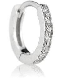 Repossi Orecchino singolo Berbere in oro bianco 18kt con diamanti - Metallizzato