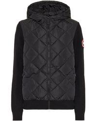 Canada Goose Hybridge® Down And Wool Hoodie - Black
