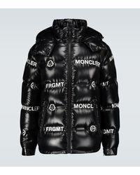 Moncler Genius 7 Moncler Fragment Mayconne Shiny Puffer Jacket - Black