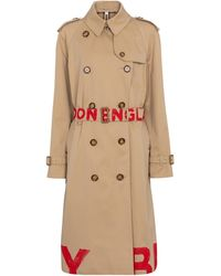 Burberry Waterloo Cotton Trench Coat - Natural