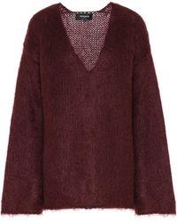 Rochas Oversized Mohair-blend Sweater - Red