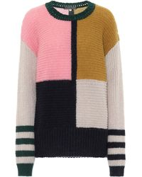 ALEXACHUNG Dora Colorblock Oversized Sweater - Multicolour