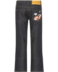 Loewe - Embroidered Straight-leg Jeans - Lyst