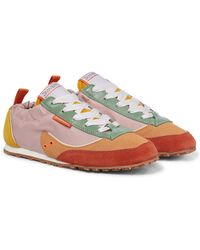 Zimmermann Soft Boxing Suede-trimmed Sneakers - Multicolor