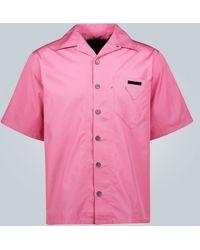 Prada - Kurzarmhemd aus Baumwollpopeline - Lyst