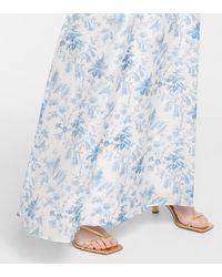 Sir. The Label Exclusivo en Mytheresa - falda larga Clementine de algodón y seda - Azul