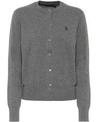 Polo Ralph Lauren Logo Cotton-blend Cardigan - Gray