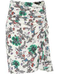 Isabel Marant Cereny Floral Stretch-silk Skirt - Multicolor