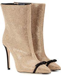 Marco De Vincenzo Ankle Boots mit Glitter - Mehrfarbig