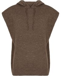 Frankie Shop Sudadera Juno en mezcla de lana - Marrón
