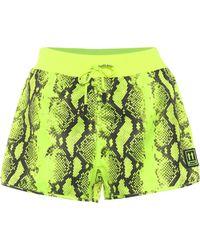 Off-White c/o Virgil Abloh Bedruckte Shorts aus Nylon - Gelb