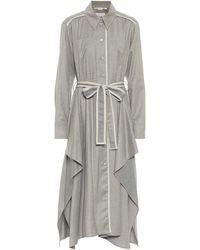 Stella McCartney Hemdblusenkleid Leilani aus Wolle - Grau