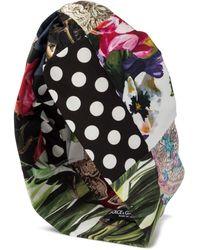 Dolce & Gabbana Bedruckter Turban aus Georgette - Mehrfarbig