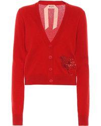 N°21 Cardigan aus Kaschmir - Rot