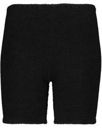 Hunza G Exklusiv bei Mytheresa – Shorts aus Strick - Schwarz