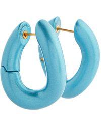 Balenciaga Aretes Loop - Azul