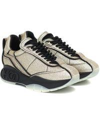 Jimmy Choo Sneakers Raine mit Glitter - Schwarz
