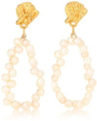Alighieri Apollos Story pearl earrings - Bianco