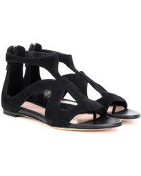 Alexander McQueen Suede Sandals - Black