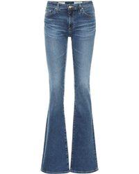 AG Jeans Mid-Rise Flared Jeans The Harper - Blau