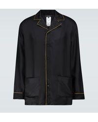 Versace Pyjama-Hemd aus Seide - Schwarz
