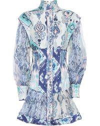 Zimmermann 'Glassy' Minikleid - Blau
