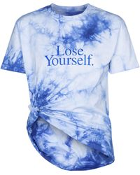 Paco Rabanne T-shirt tie-dye in cotone - Blu