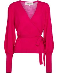 Diane von Furstenberg Top Adrielle de lana - Rosa