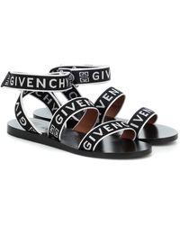 Givenchy Sandalen 4G aus Jacquard - Schwarz