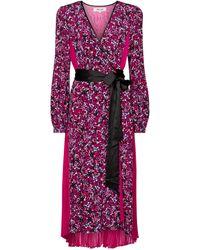 Diane von Furstenberg Midikleid Ariadne aus Seide - Pink