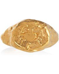Alighieri Cancer 24kt Gold-plated Signet Ring - Metallic