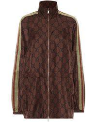 Gucci Jacke aus Seiden-Twill - Braun