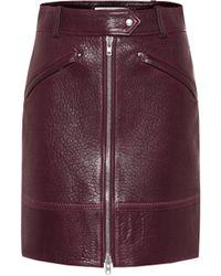 KENZO Leather Miniskirt - Multicolour