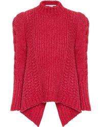 Stella McCartney Cable-knit Alpaca-blend Jumper - Pink