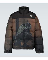 Undercover Samurai-print Down-filled Jacket - Brown