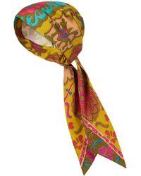 Valentino Exklusiv bei Mytheresa – Kopftuch aus Seide und Baumwolle - Gelb