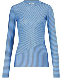 MM6 by Maison Martin Margiela - Top a righe in jersey - Lyst