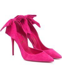 Christian Louboutin Pumps Rabakate 100 aus Veloursleder - Pink