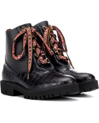 Etro - Leather Ankle Boots - Lyst
