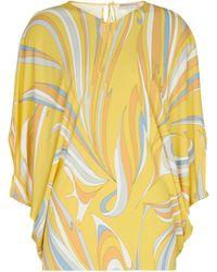 Emilio Pucci Bedruckte Bluse - Gelb