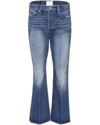 FRAME Jeans Le Crop Flare - Blau
